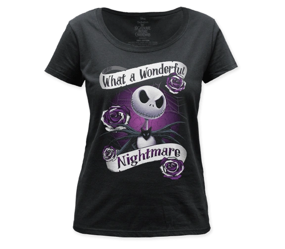 The Nightmare Before Christmas Wonderful Nightmare Women's Scoop Neck T-shirt