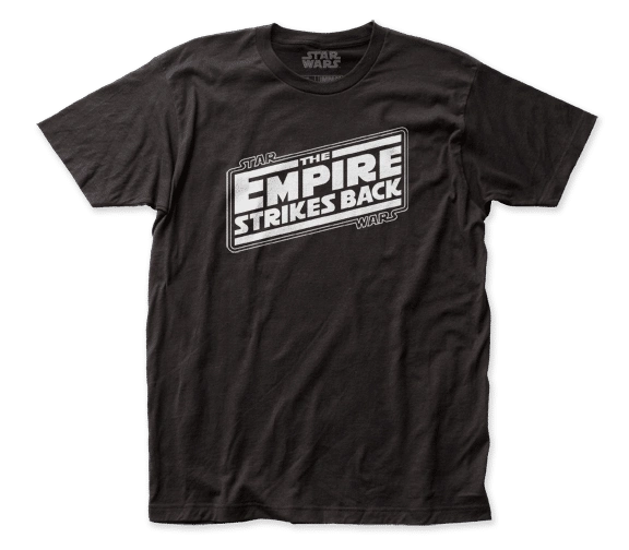 Star Wars The Empire Strikes Back Logo Black Short Sleeve Adult T-shirt