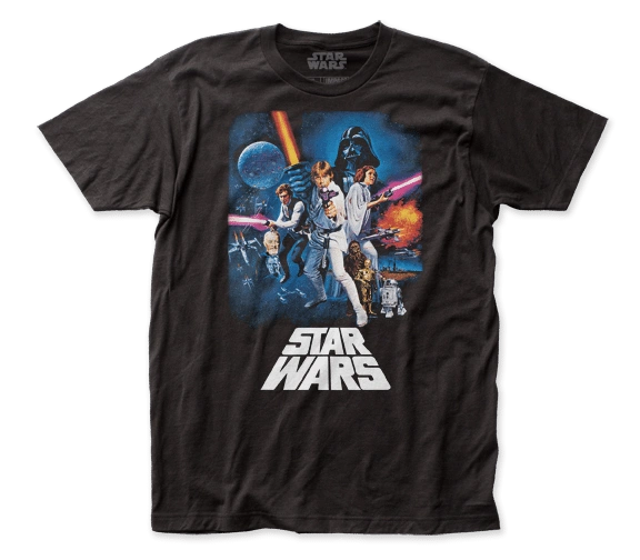 Star Wars New Hope Poster Black Short Sleeve Adult T-shirt