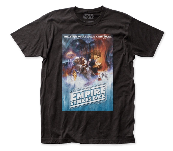 Star Wars Empire Strikes Back Poster Black Short Sleeve Adult T-shirt