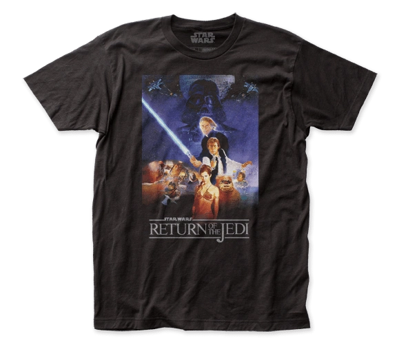 Star Wars Return of the Jedi Poster Black Short Sleeve Adult T-shirt
