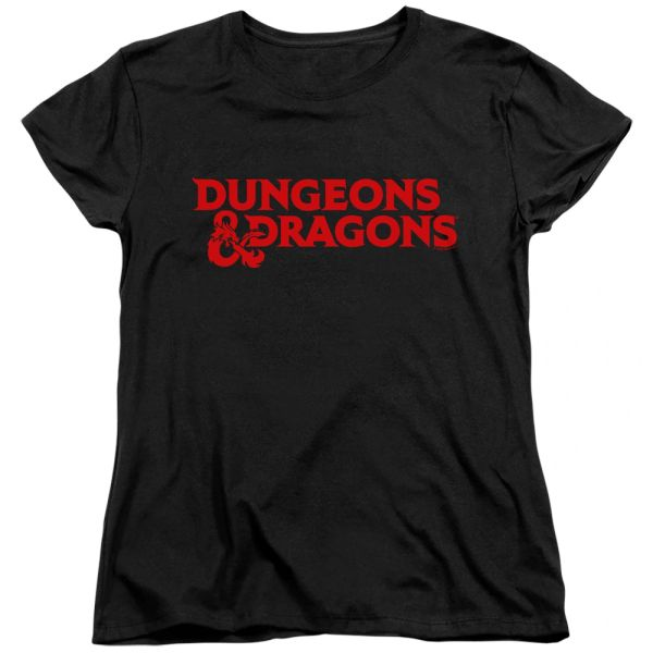 Dungeons and Dragons Type Logo Black Women's T-shirt