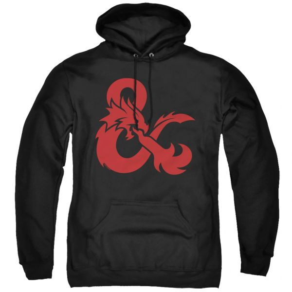Dungeons and Dragons Andpersand Logo Black Pull Over Hoodie