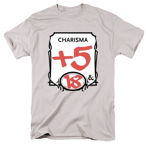 Dungeons and Dragons Charisma Silver Short Sleeve Adult T-shirt