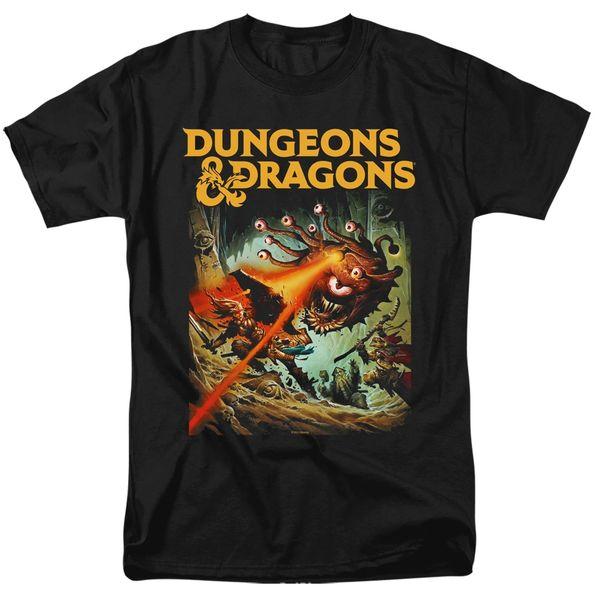 Dungeons and Dragons Beholder Strike Black Short Sleeve Adult T-shirt