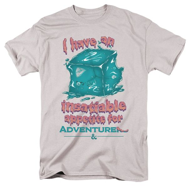 Dungeons and Dragons Insatiable Gelatinous Cube Silver Short Sleeve Adult T-shirt