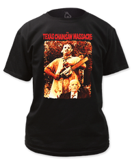 The Texas Chainsaw Massacre Leatherface and Grandpa Adult T-shirt