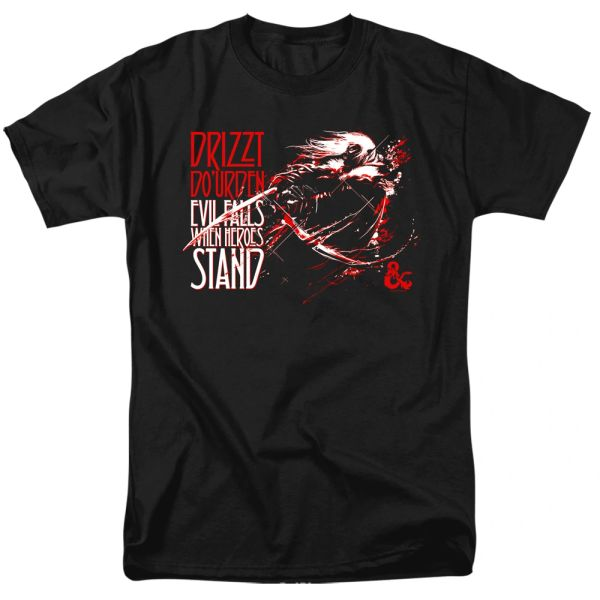 Dungeons and Dragons Evil Falls Black Short Sleeve Adult T-shirt