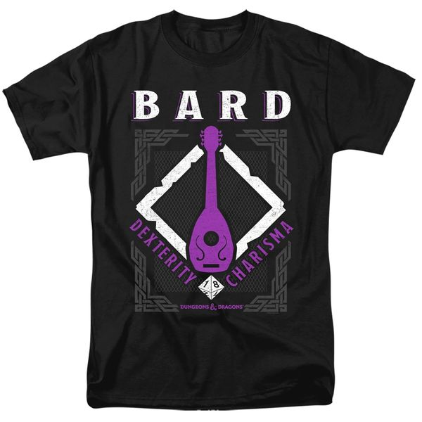 Dungeons and Dragons Bard Black Short Sleeve Adult T-shirt