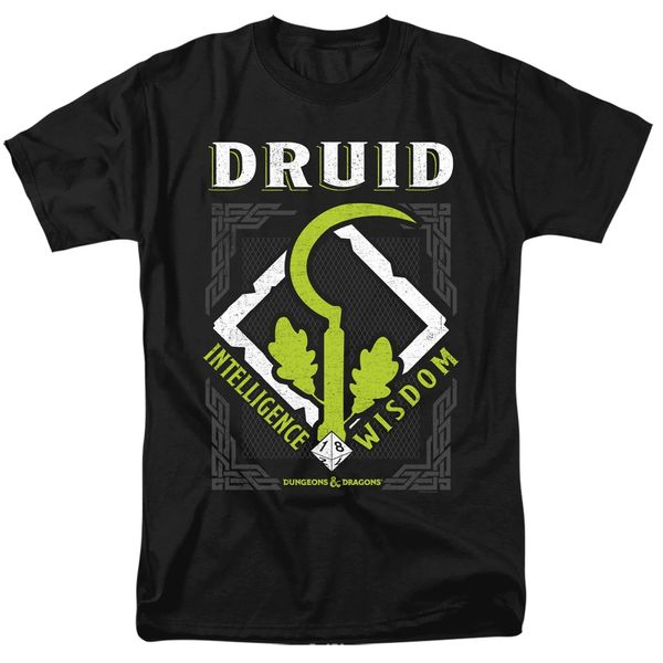 Dungeons and Dragons Druid Black Short Sleeve Adult T-shirt
