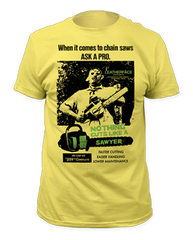 The Texas Chainsaw Massacre Cuts Like a Sawyer Adult T-shirt