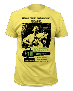 The Texas Chainsaw Massacre Cuts Like a Sawyer Adult T-shirt