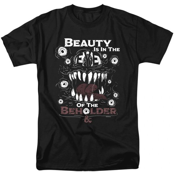 Dungeons and Dragons Eye of The Beholder Black Short Sleeve Adult T-shirt
