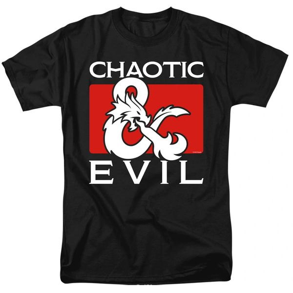 Dungeons and Dragons Chaotic Evil Black Short Sleeve Adult T-shirt