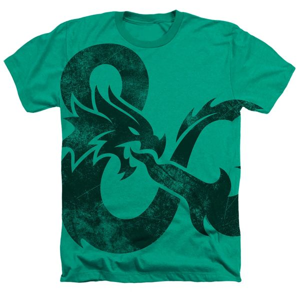 Dungeons and Dragons Giant Andpersand Kelly Green Short Sleeve Adult T-shirt