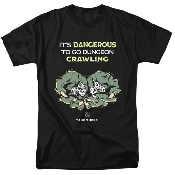 Dungeons and Dragons Dangerous to Go Alone Black Short Sleeve Adult T-shirt