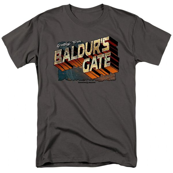 Dungeons and Dragons Baldurs Gate Charcoal Short Sleeve Adult T-shirt