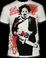 The Texas Chainsaw Massacre Splatter Big Print Adult T-shirt