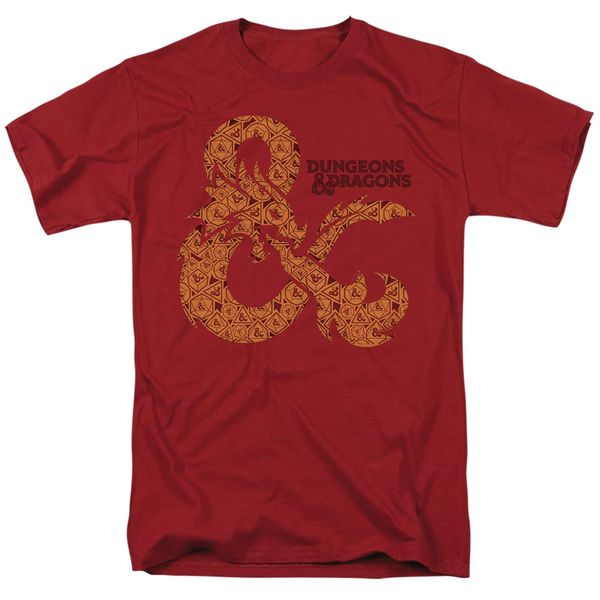 Dungeons and Dragons Dicey Andpersand Cardinal Short Sleeve Adult T-shirt