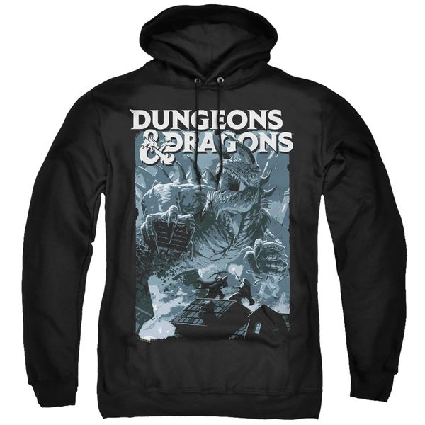 Dungeons and Dragons Tarrasque Black Adult Pull Over Hoodie