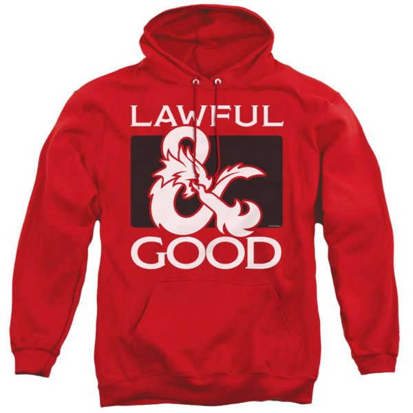 Dungeons and Dragons Lawful Good Red Adult Pull Over Hoodie