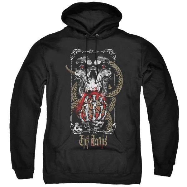 Dungeons and Dragons Lich for Chaos Black Adult Pull Over Hoodie