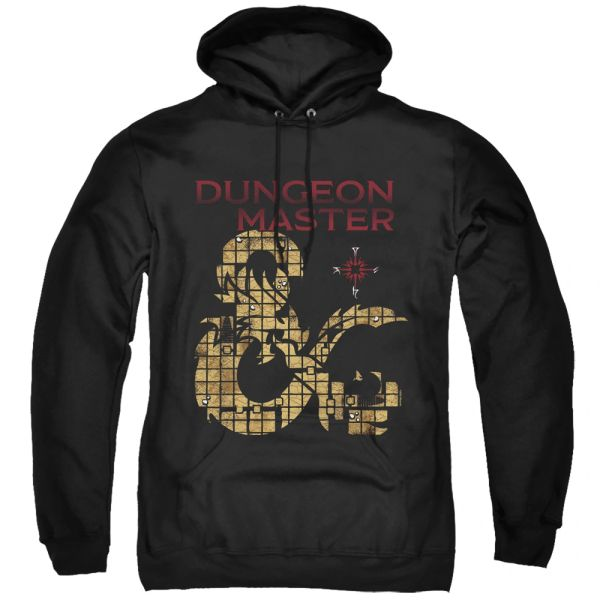 Dungeons and Dragons Dungeon Master Black Adult Pull Over Hoodie