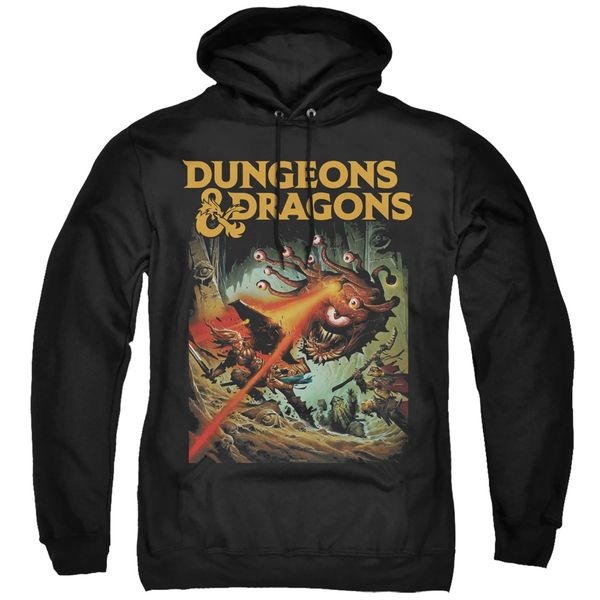 Dungeons and Dragons Beholder Strike Black Adult Pull Over Hoodie