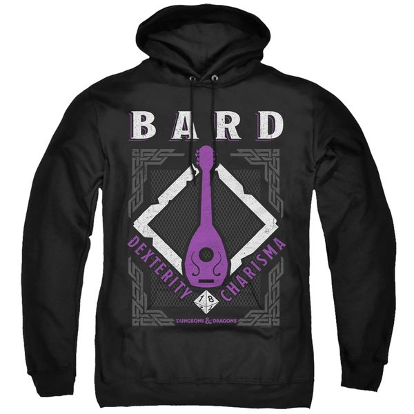 Dungeons and Dragons Bard Black Adult Pull Over Hoodie