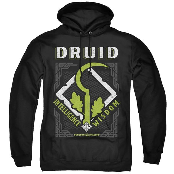 Dungeons and Dragons Druid Black Adult Pull Over Hoodie