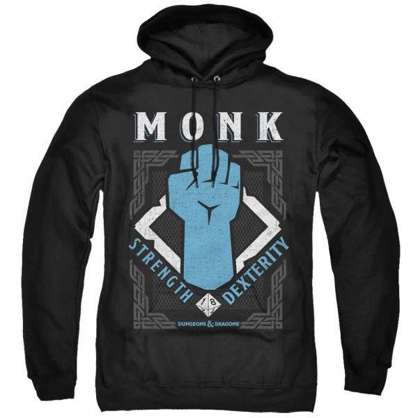 Dungeons and Dragons Monk Black Adult Pull Over Hoodie