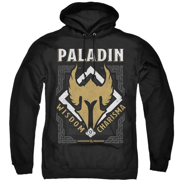 Dungeons and Dragons Paladin Black Adult Pull Over Hoodie