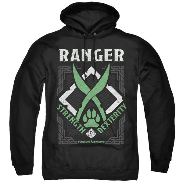 Dungeons and Dragons Ranger Black Adult Pull Over Hoodie