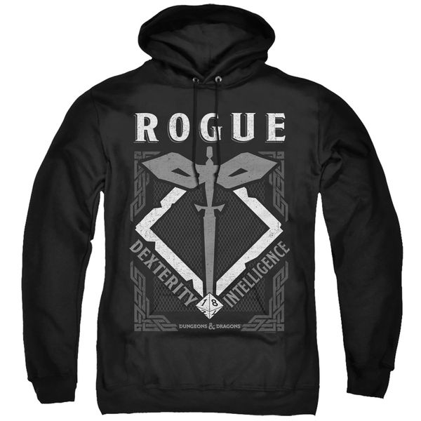 Dungeons and Dragons Rogue Black Adult Pull Over Hoodie