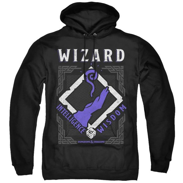 Dungeons and Dragons Wizard Black Adult Pull Over Hoodie