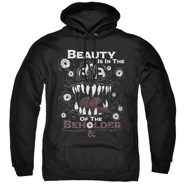 Dungeons and Dragons Eye of the Beholder Black Adult Pull Over Hoodie