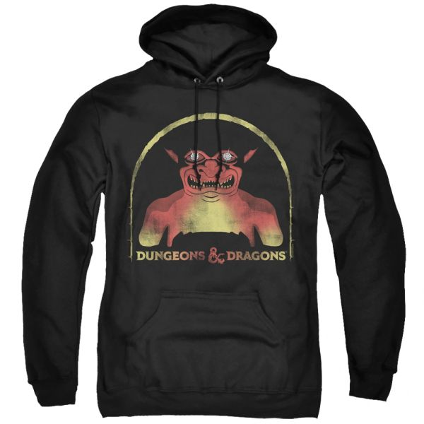 Dungeons and Dragons Old School Black Adult Pull Over Hoodie