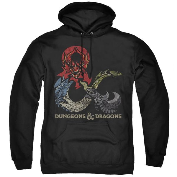 Dungeons and Dragons Dragons in Dragons Adult Pull Over Hoodie