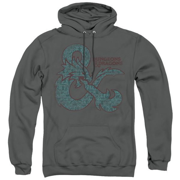 Dungeons and Dragons Ampersand Classes Adult Pull Over Hoodie