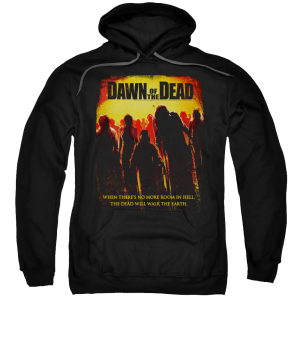 Dawn of the Dead Title Black Adult Pull-Over Hoodie