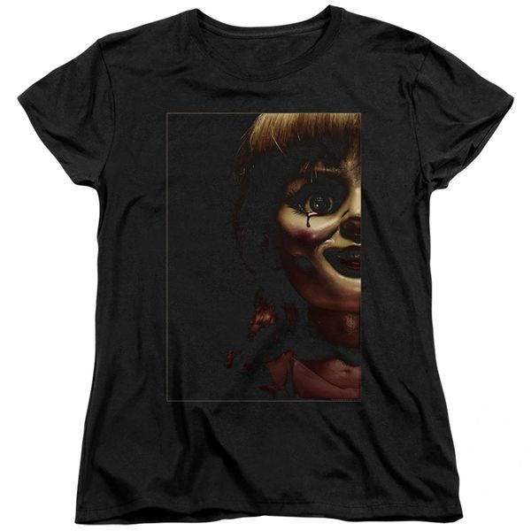Annabelle Doll Tear Black Short Sleeve Women's T-shirt