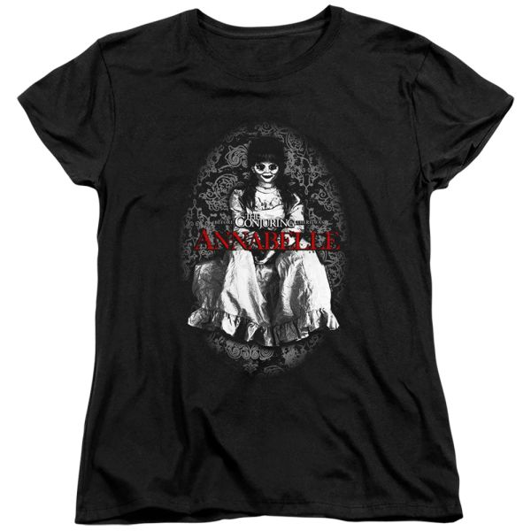 Annabelle Doll Annabelle Black Short Sleeve Women's T-shirt