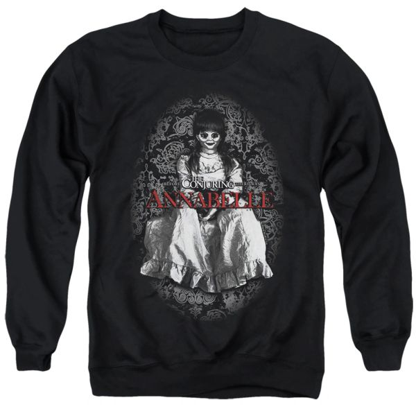 Annabelle Doll Annabelle Black Adult Crew Neck Sweater