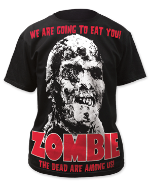 Zombie All-Over Zombie Big Print Adult T-shirt