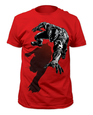Black Panther Shadow Red Short Sleeve Adult T-shirt