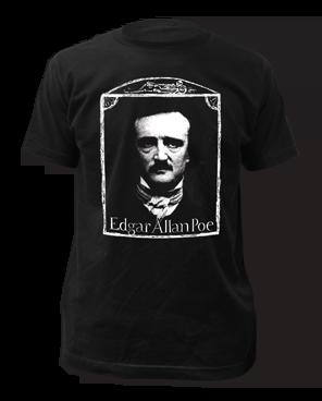Edgar Allen Poe Black Short Sleeve Adult T-shirt