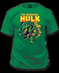 Incredible Hulk Smash! Kelly Green Short Sleeve Adult T-shirt