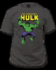 Incredible Hulk Incredible Hulk Charcoal Short Sleeve Adult T-shirt