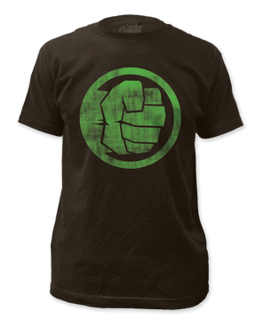 Incredible Hulk Fist Bump Black Short Sleeve Adult T-shirt