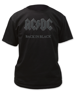 AC/DC Back in Black Black Short Sleeve Adult T-shirt